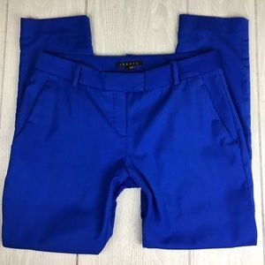 Theory Yanette wool royal blue crop trousers